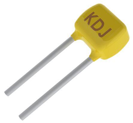 KEMET 10μF Multilayer Ceramic Capacitor MLCC 50V dc ±10% Through Hole C320C106K3R5TA (500)