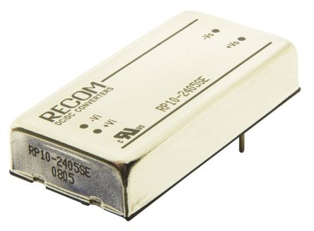 Recom RP10 E 10W Isolated DC-DC Converter Through Hole, Voltage in 18 → 36 V dc, Voltage out 5V dc
