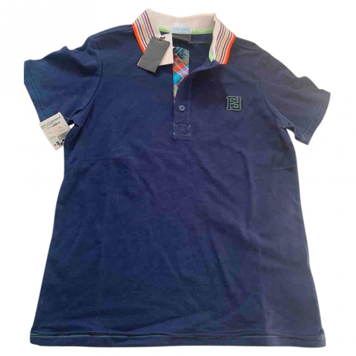 Fendi \N Poloshirts in  Blau Baumwolle