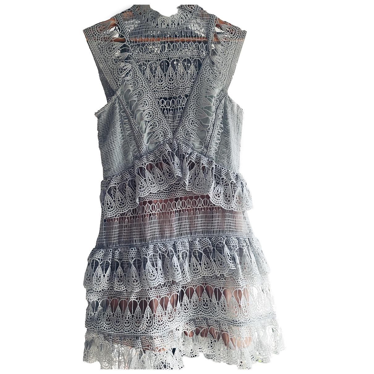 - Robe   pour femme en coton - elasthane - vert