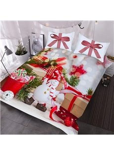 Christmas Gifts 3D Comforter 3-Piece Warm Comforter Sets with 2 Pillowcases