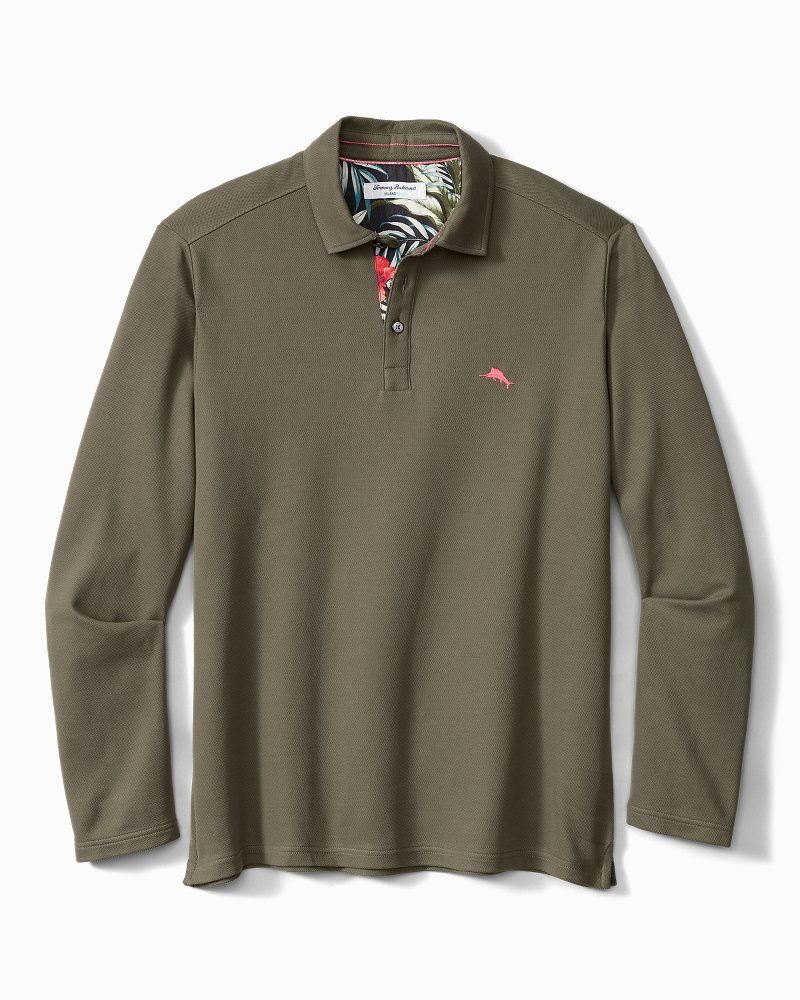 Big & Tall 5 O'Clock IslandZone® Long-Sleeve Polo