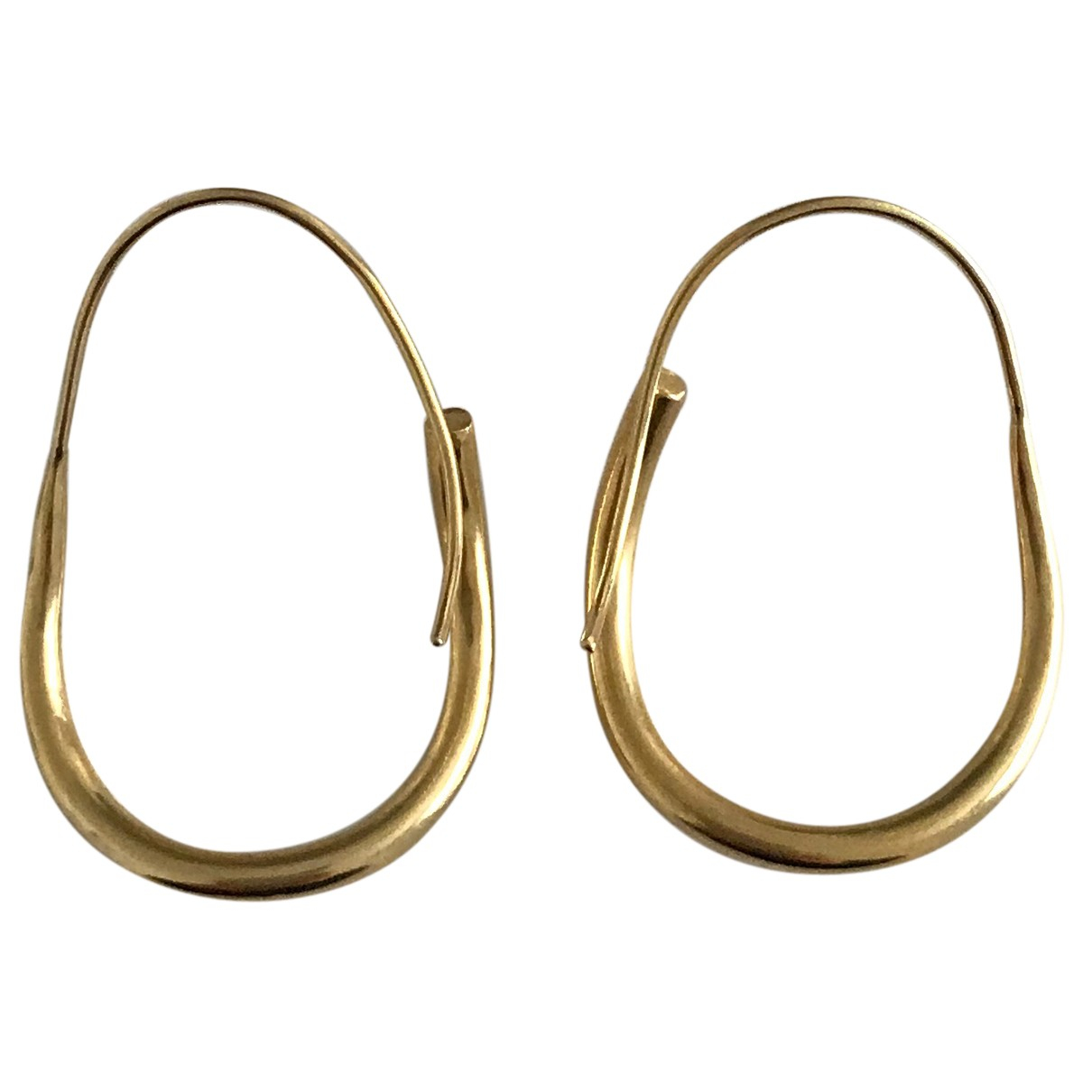 Non Signé / Unsigned N Gold Gold plated Earrings for Women N
