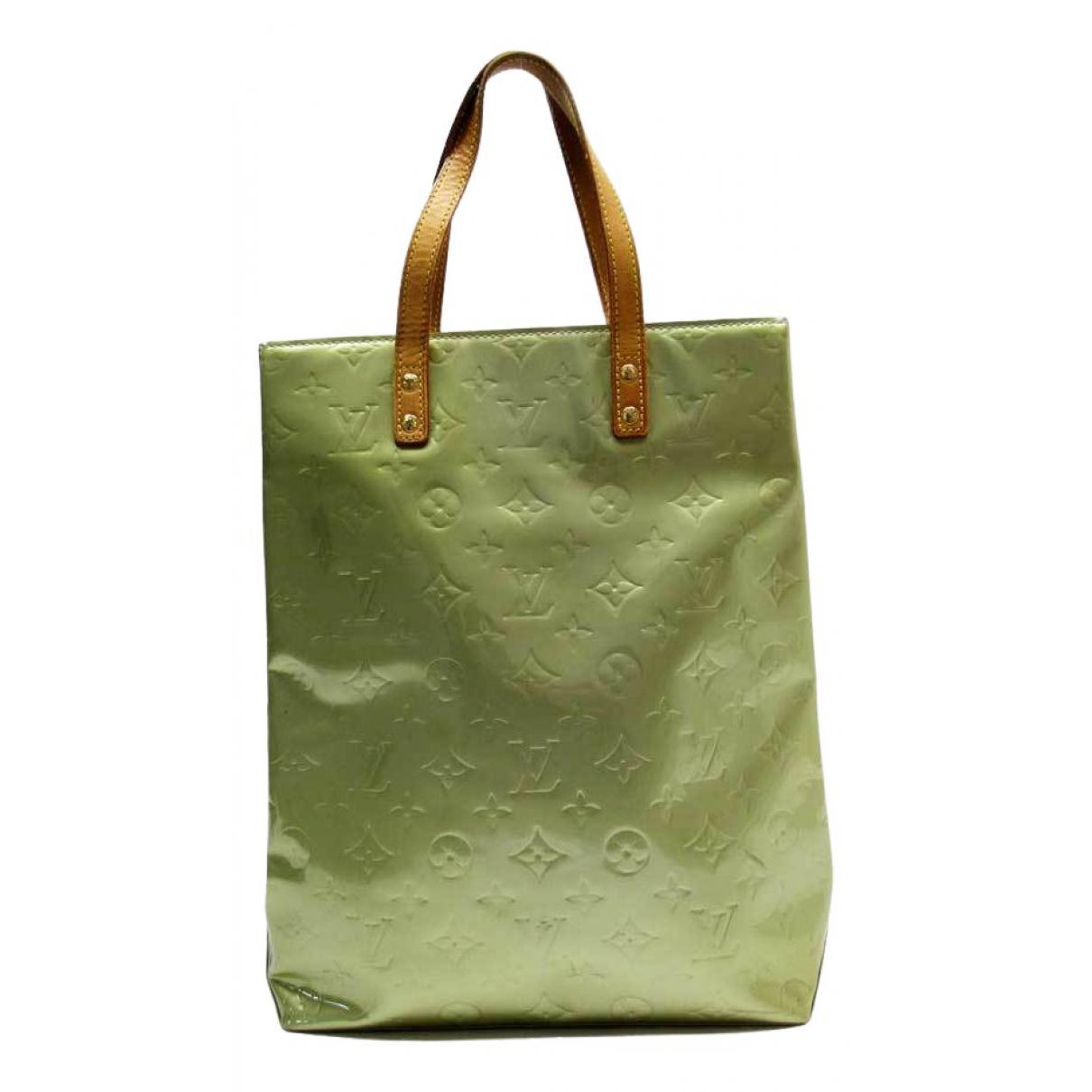 Louis Vuitton Reade Grey Patent leather handbag for Women \N
