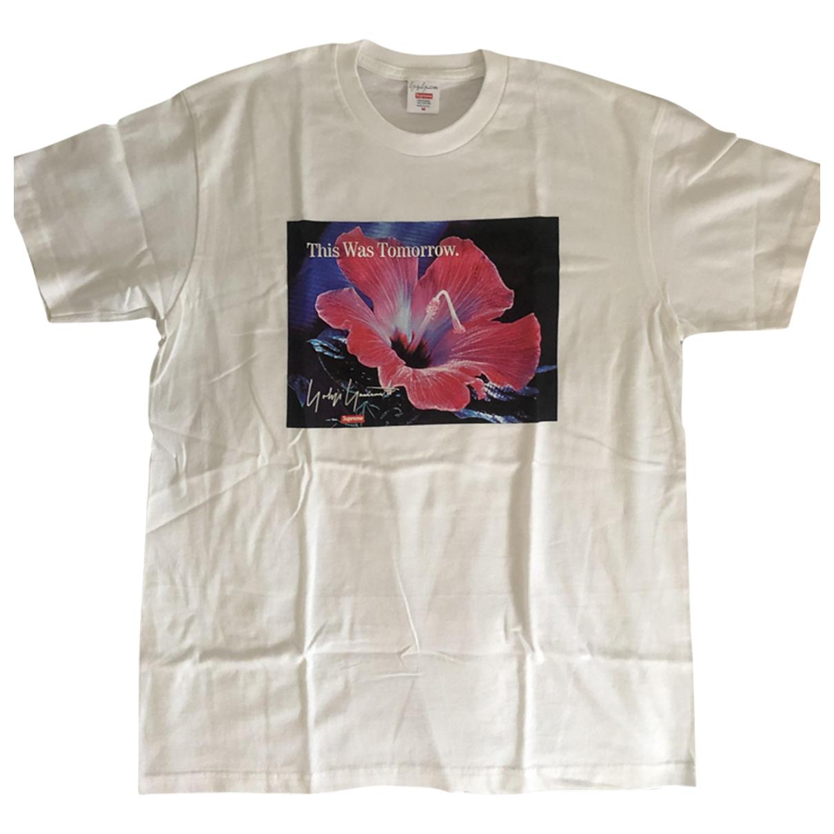 Supreme X Yohji Yamamoto N White Cotton T-shirts for Men M International