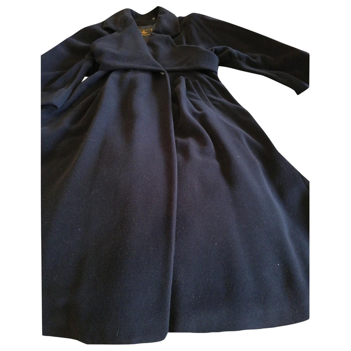 Fendi - Manteau   pour femme en laine - bleu