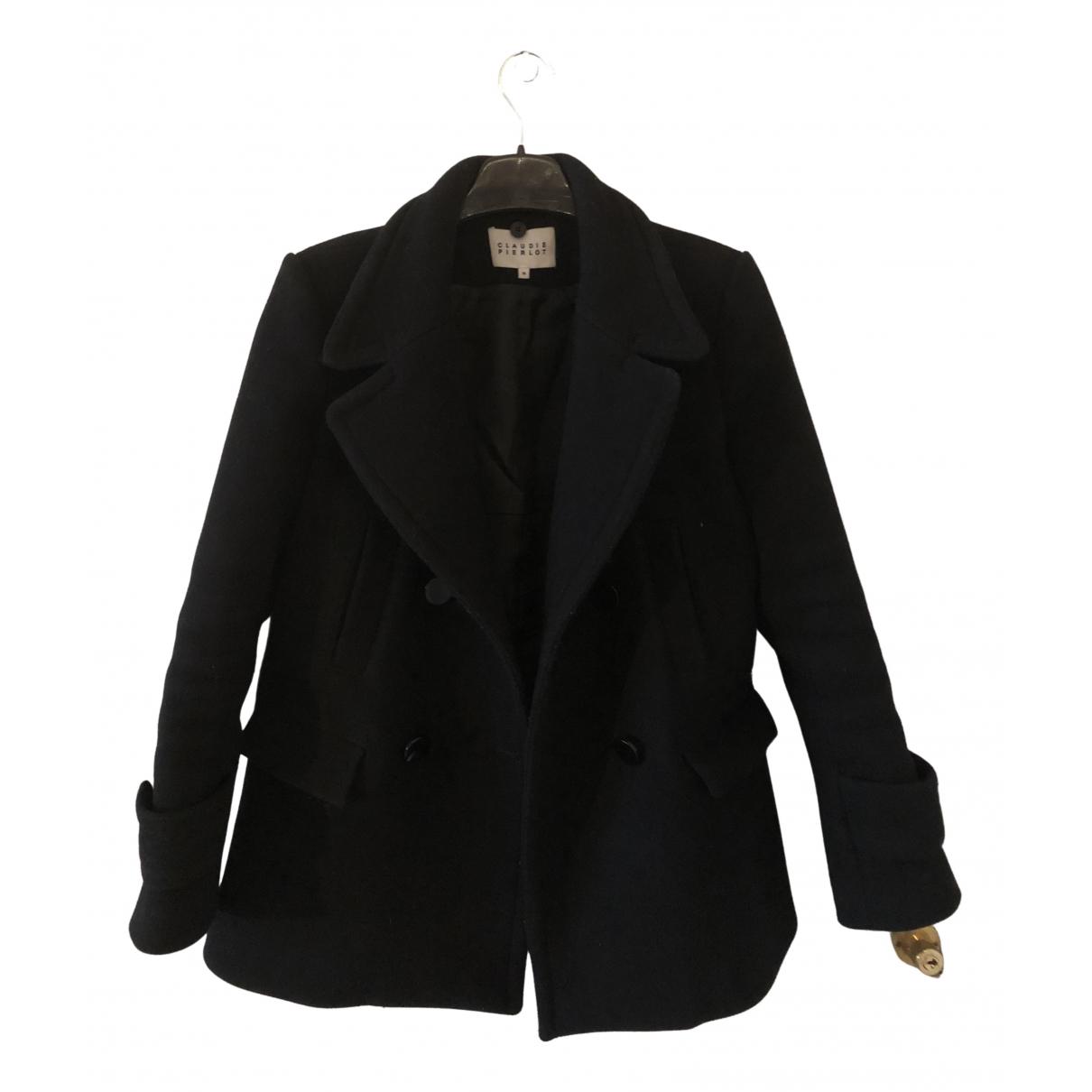 Claudie Pierlot \N Black Wool coat for Women 36 FR