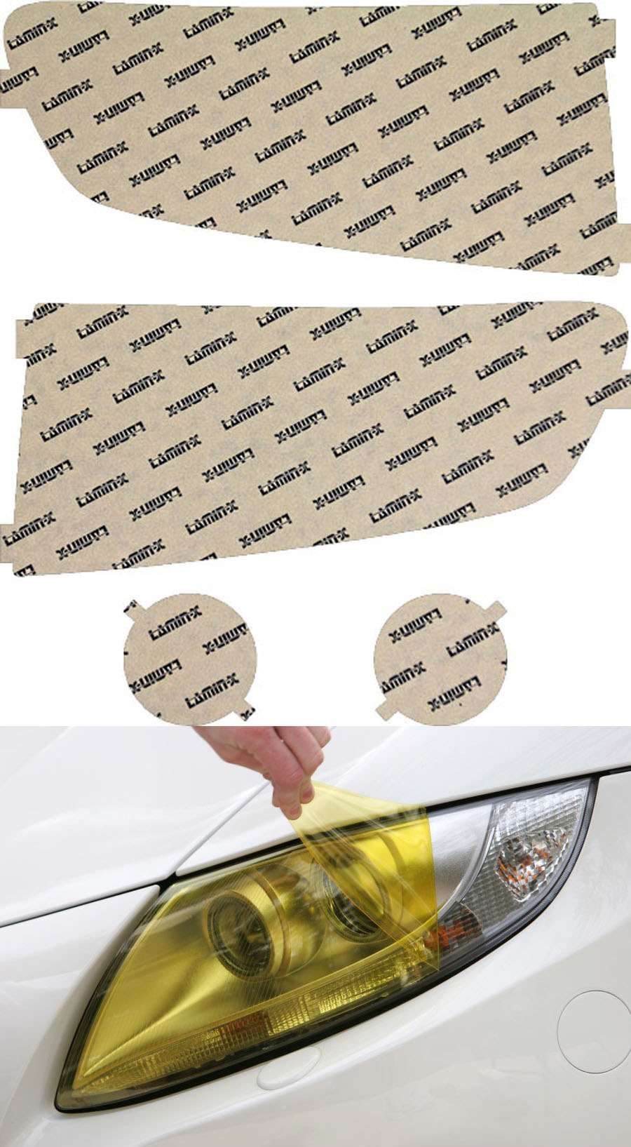 Honda Ridgeline 06-08 Yellow Headlight Covers Lamin-X H027Y