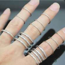 16pcs Simple Ring