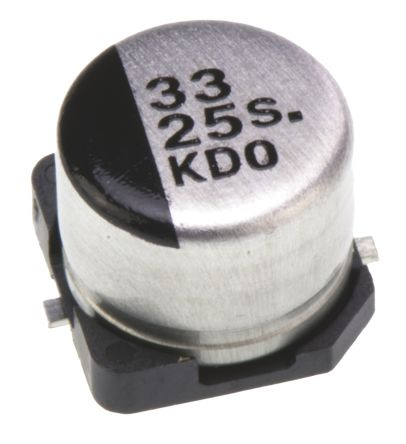 Panasonic 33μF Electrolytic Capacitor 25V dc, Surface Mount - EEE1EA330SP (5)