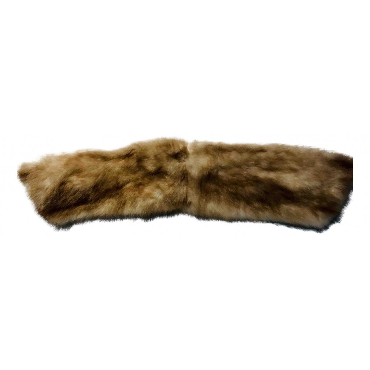 Hermès \N Camel Mink scarf for Women \N