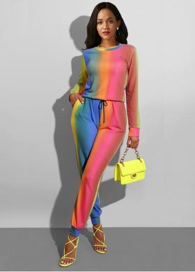 Multi Color Long Sleeve Sun Protection Jumpsuit - 14