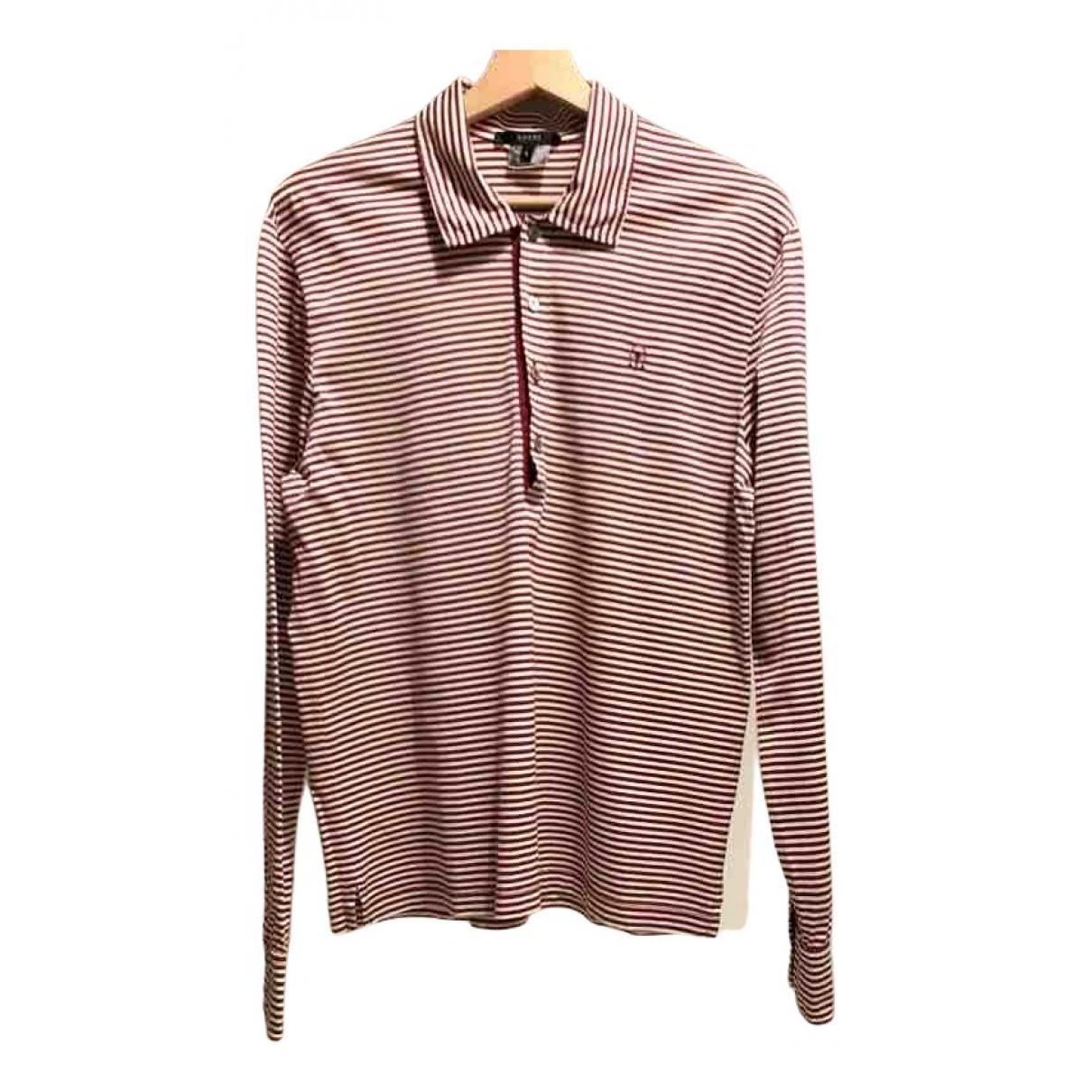 Polo en Algodon Burdeos Gucci