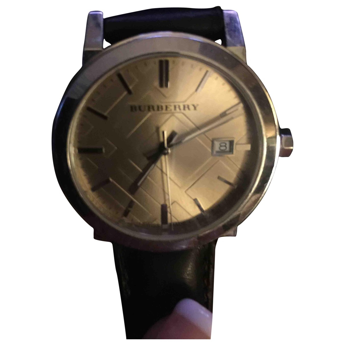 Burberry \N Uhr in  Silber Stahl