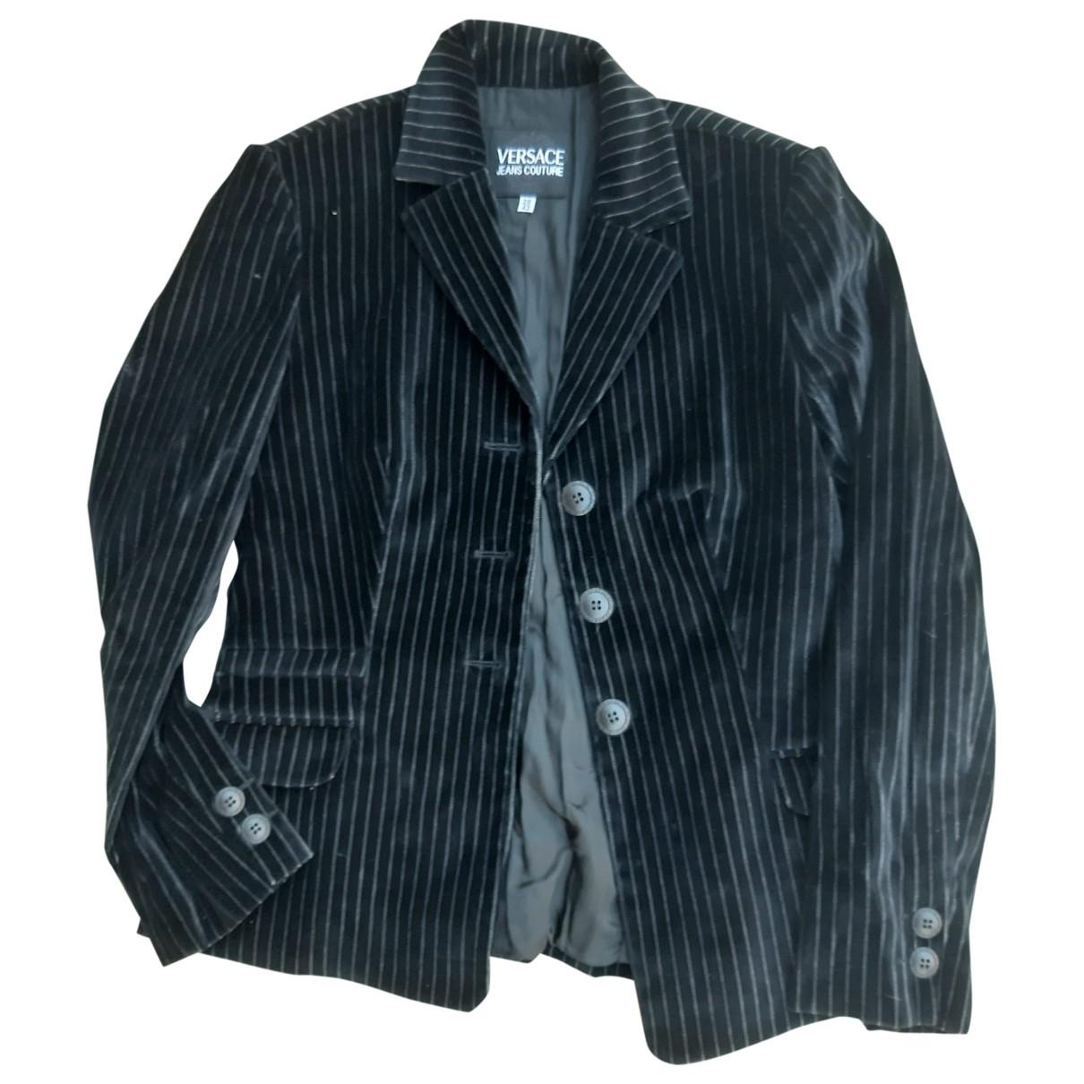 Versace Jeans \N Jacke in  Schwarz Samt
