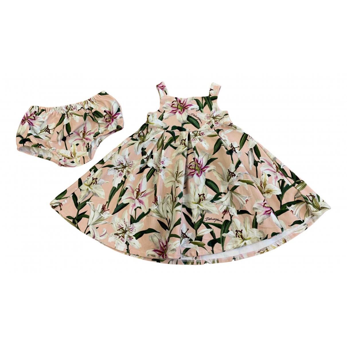 Dolce & Gabbana - Robe    pour enfant en coton - rose