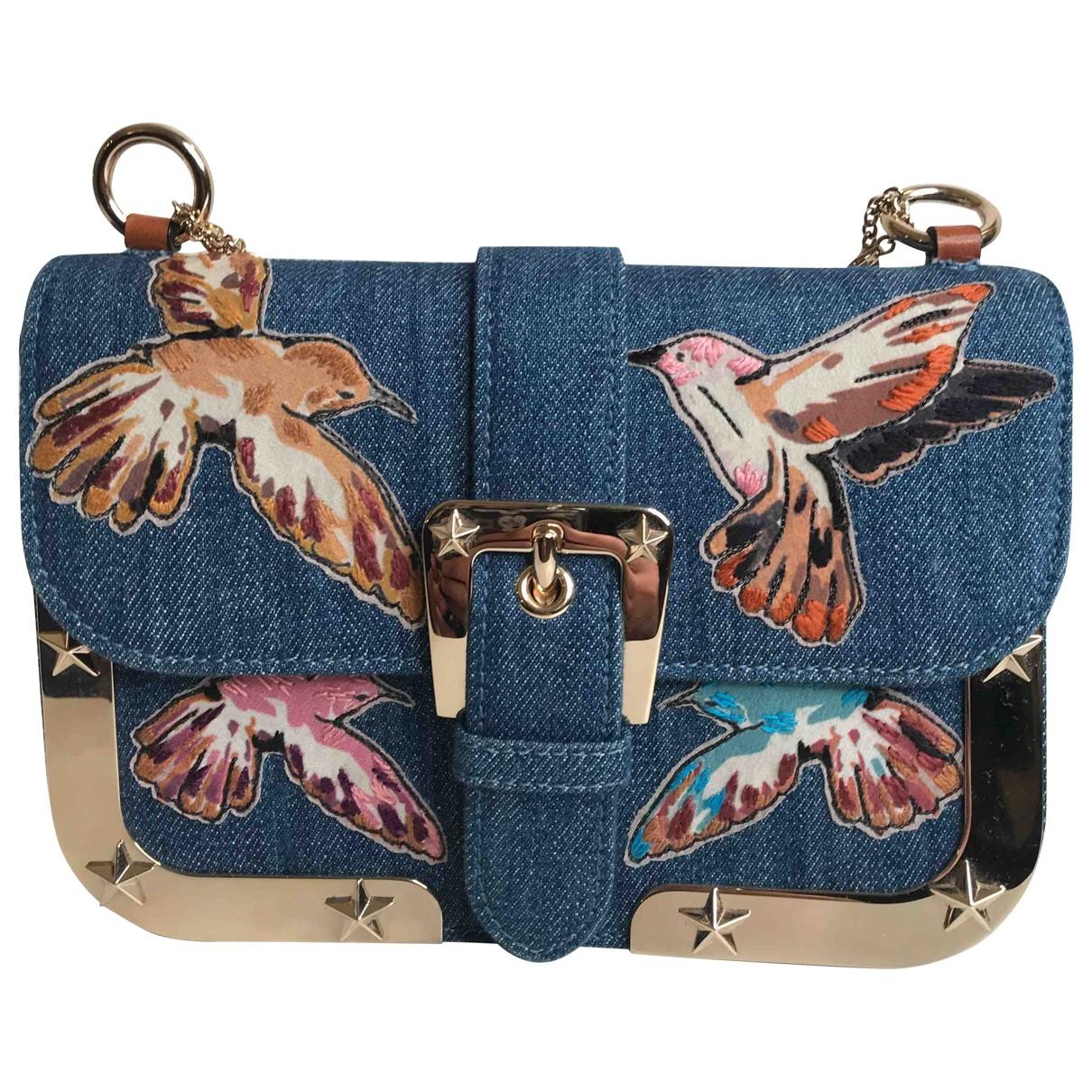 Red Valentino Garavani \N Handtasche in  Blau Denim - Jeans