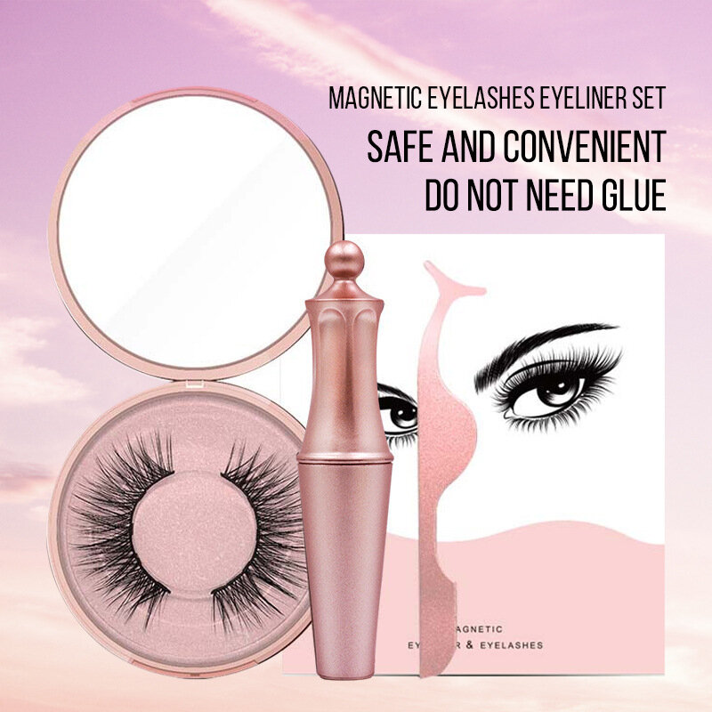 Magnetic False Eyelash Eyeliner Set Natural Eyelash Magnetic Eyeliner Eye Makeup