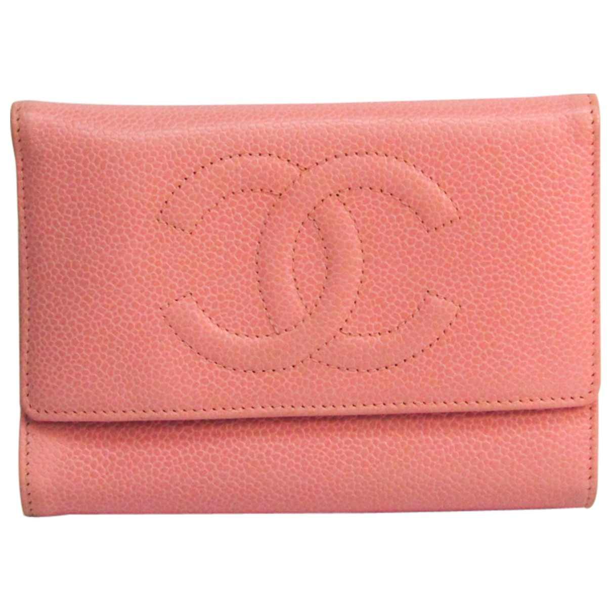 Chanel N Pink Leather wallet for Women N