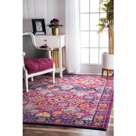 nuLoom Persian Leilani Rug, One Size , Pink