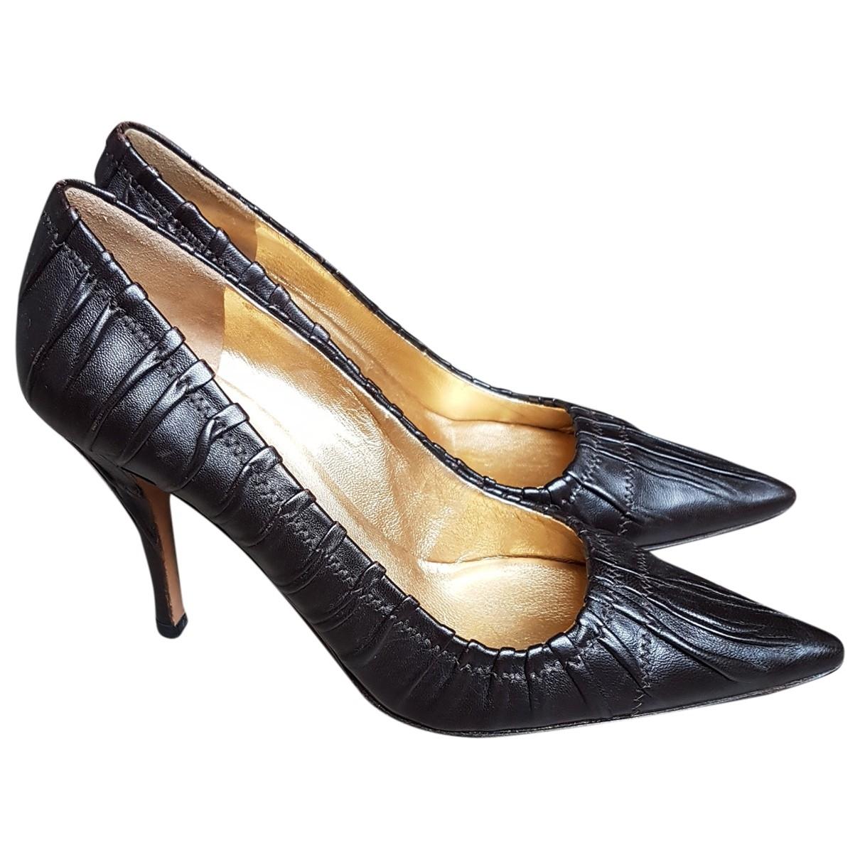 Prada \N Brown Leather Heels for Women 37.5 EU