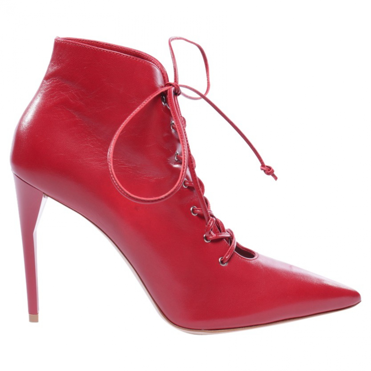 Miu Miu \N Red Leather Ankle boots for Women 37 EU