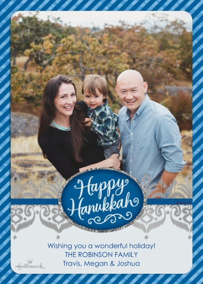 Hanukkah Photo Cards Flat Matte Photo Paper Cards with Envelopes, 5x7, Card & Stationery -Shining Hanukkah