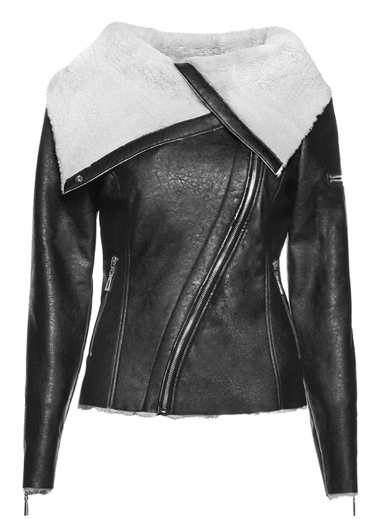 Ericdress Standard Zipper Faux Leather Fall PU Jacket