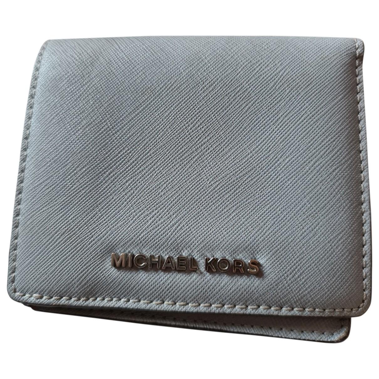 Michael Kors - Portefeuille   pour femme en cuir - anthracite
