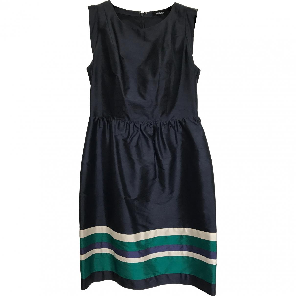 Max & Co \N Navy Silk dress for Women 38 FR