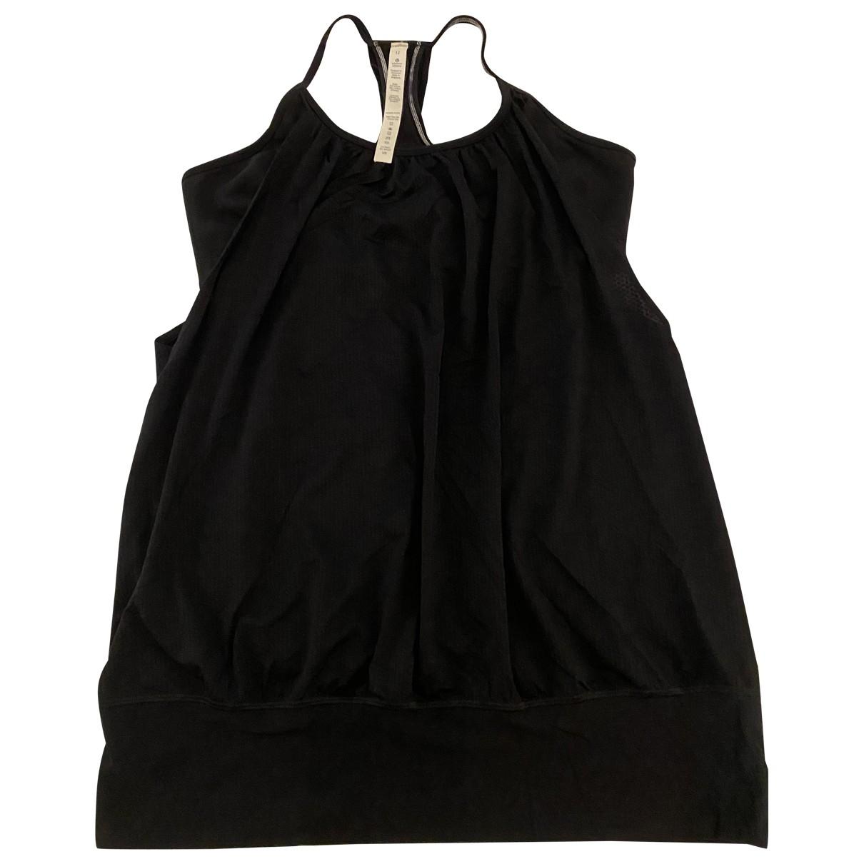 Lululemon \N Top in  Schwarz Polyester