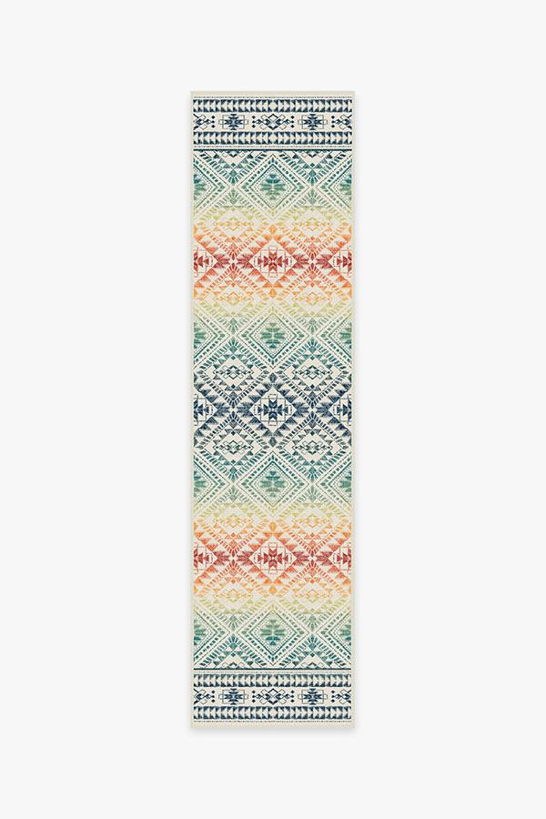 Washable Rug Cover | Outdoor Nomada Multicolor Rug | Stain-Resistant | Ruggable | 2.5'x10'