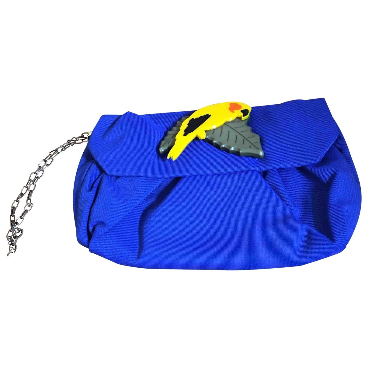 Parosh - Pochette   pour femme en coton - bleu