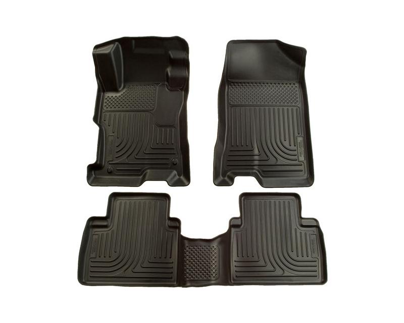 Husky Floor Liners Front & 2nd Row 07-12 Nissan Altima 4 Door (Footwell Coverage) WeatherBeater-Black