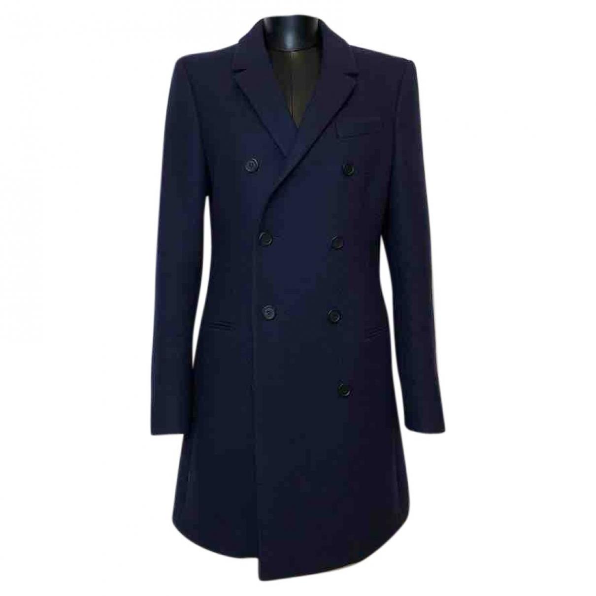 Balenciaga \N Navy Wool coat for Women 38 FR