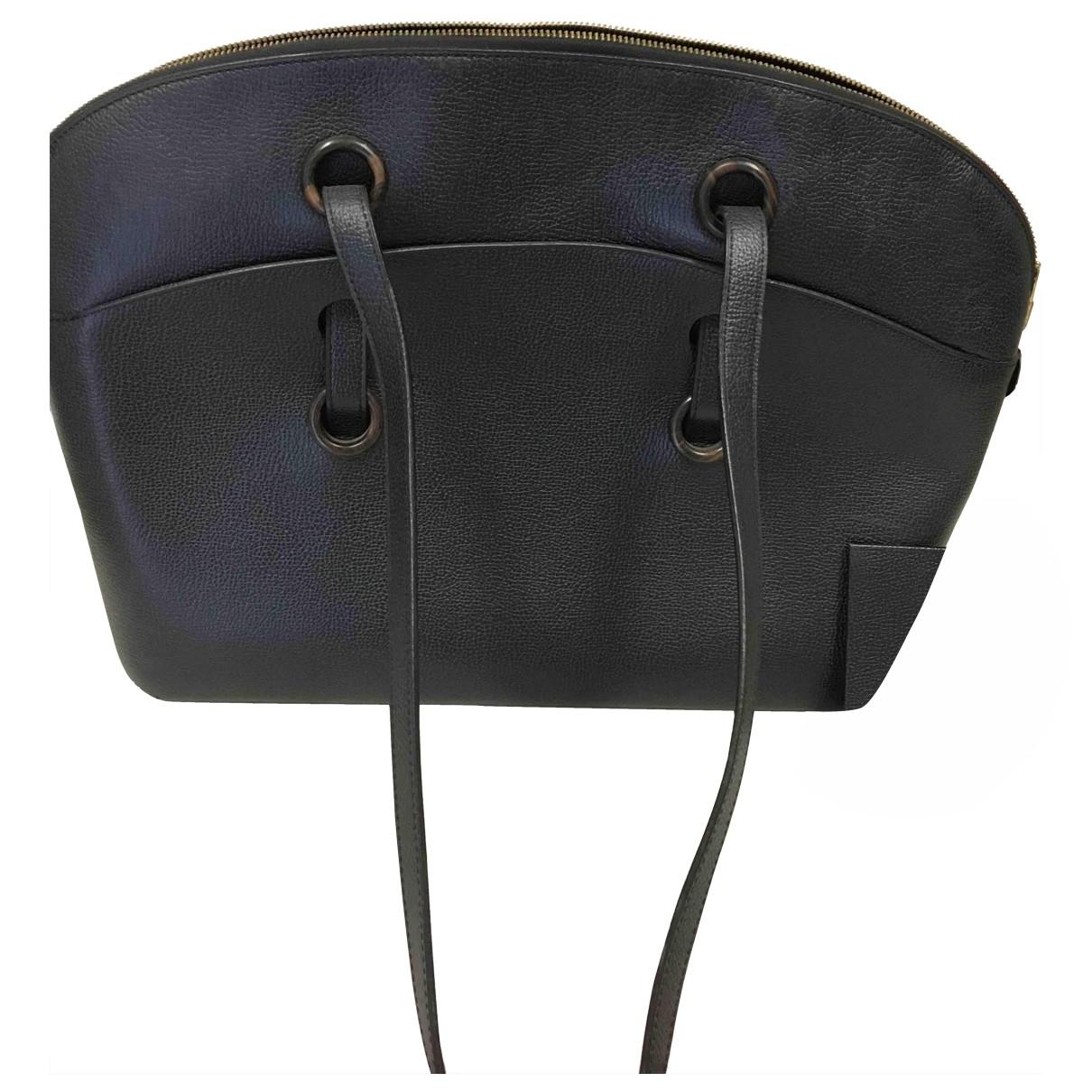 Delvaux \N Handtasche in  Schwarz Leder