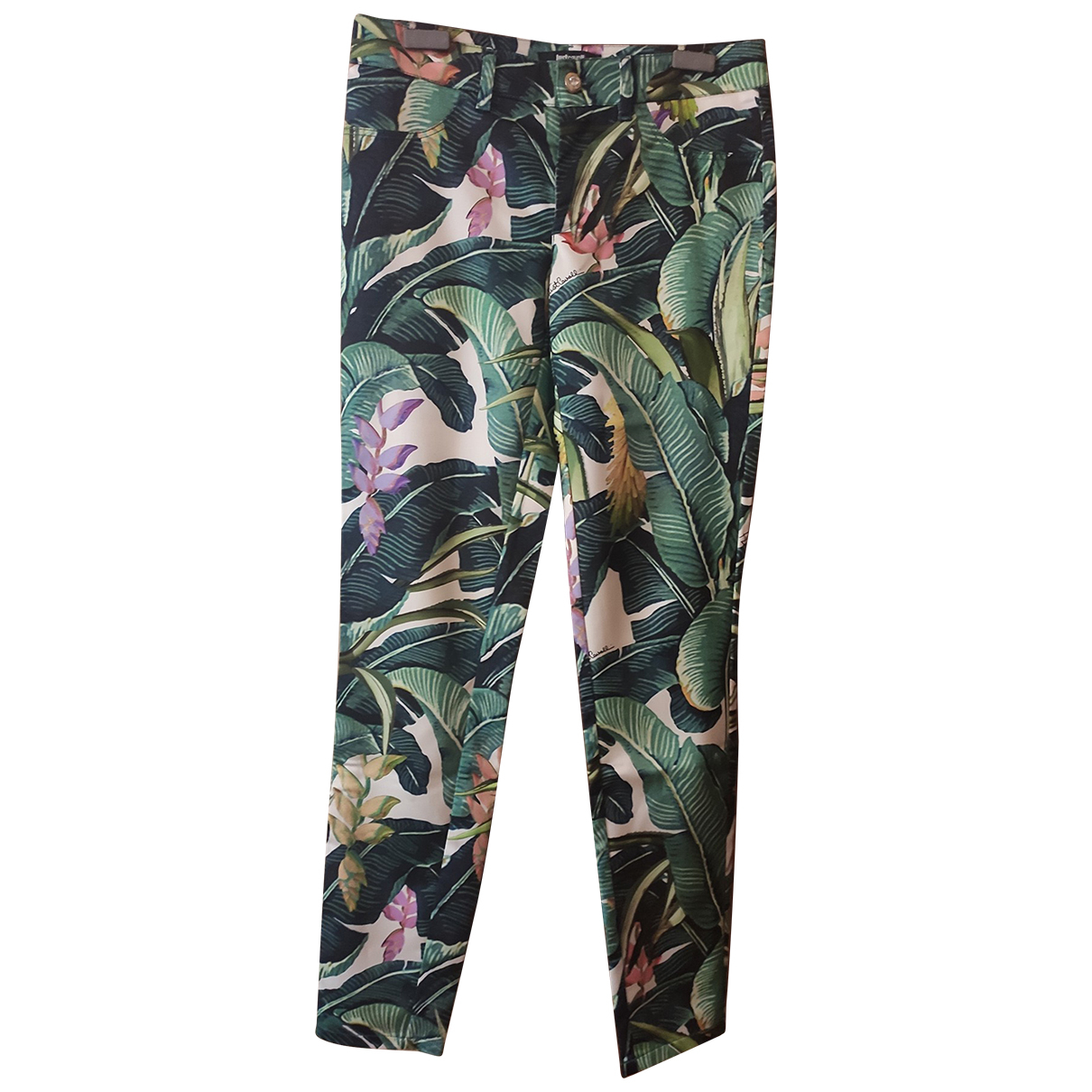 Just Cavalli N Multicolour Trousers for Women 40 IT
