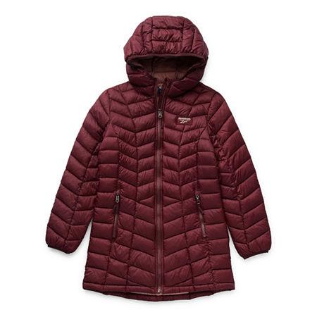Reebok Big Girls Packable Midweight Puffer Jacket, 7-8 , Purple