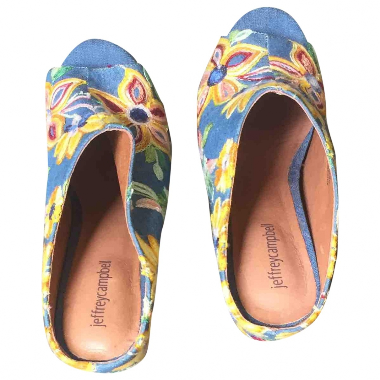Jeffrey Campbell \N Blue Cloth Mules & Clogs for Women 40 EU