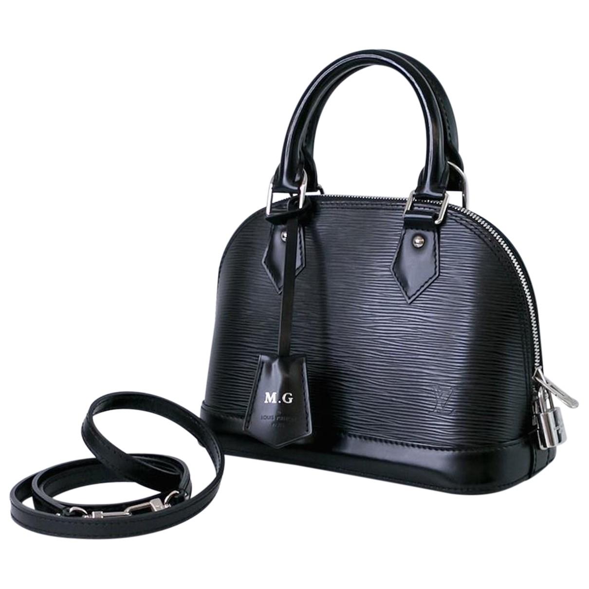 Louis Vuitton - Sac a main Alma BB pour femme en cuir - noir