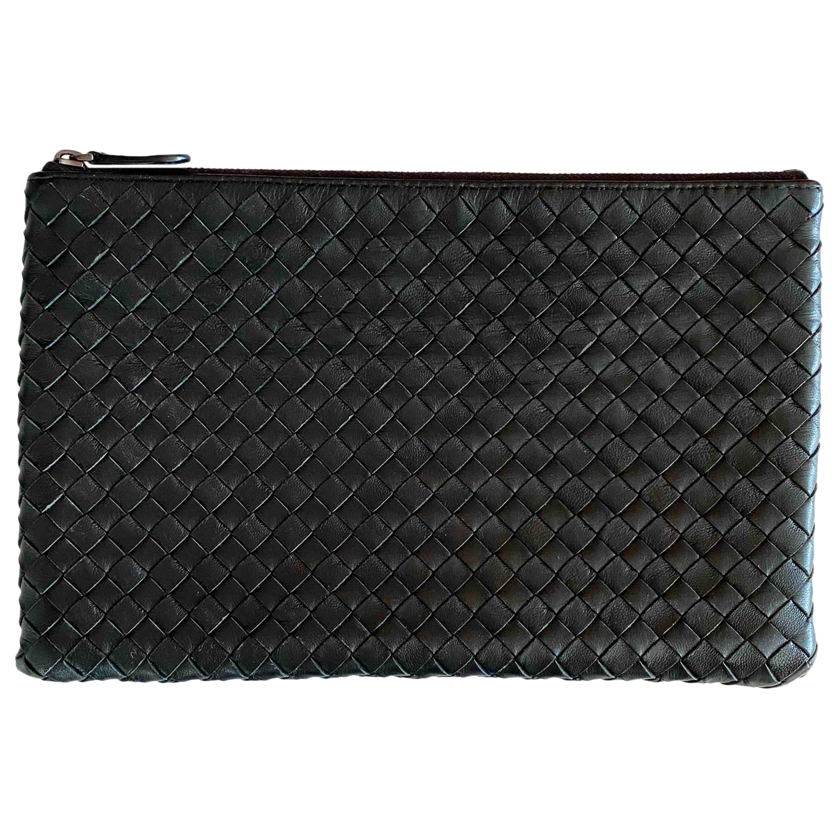 Bottega Veneta \N Clutch in  Schwarz Leder