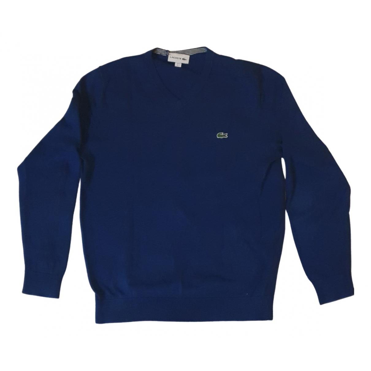 Lacoste \N Pullover.Westen.Sweatshirts  in  Blau Baumwolle