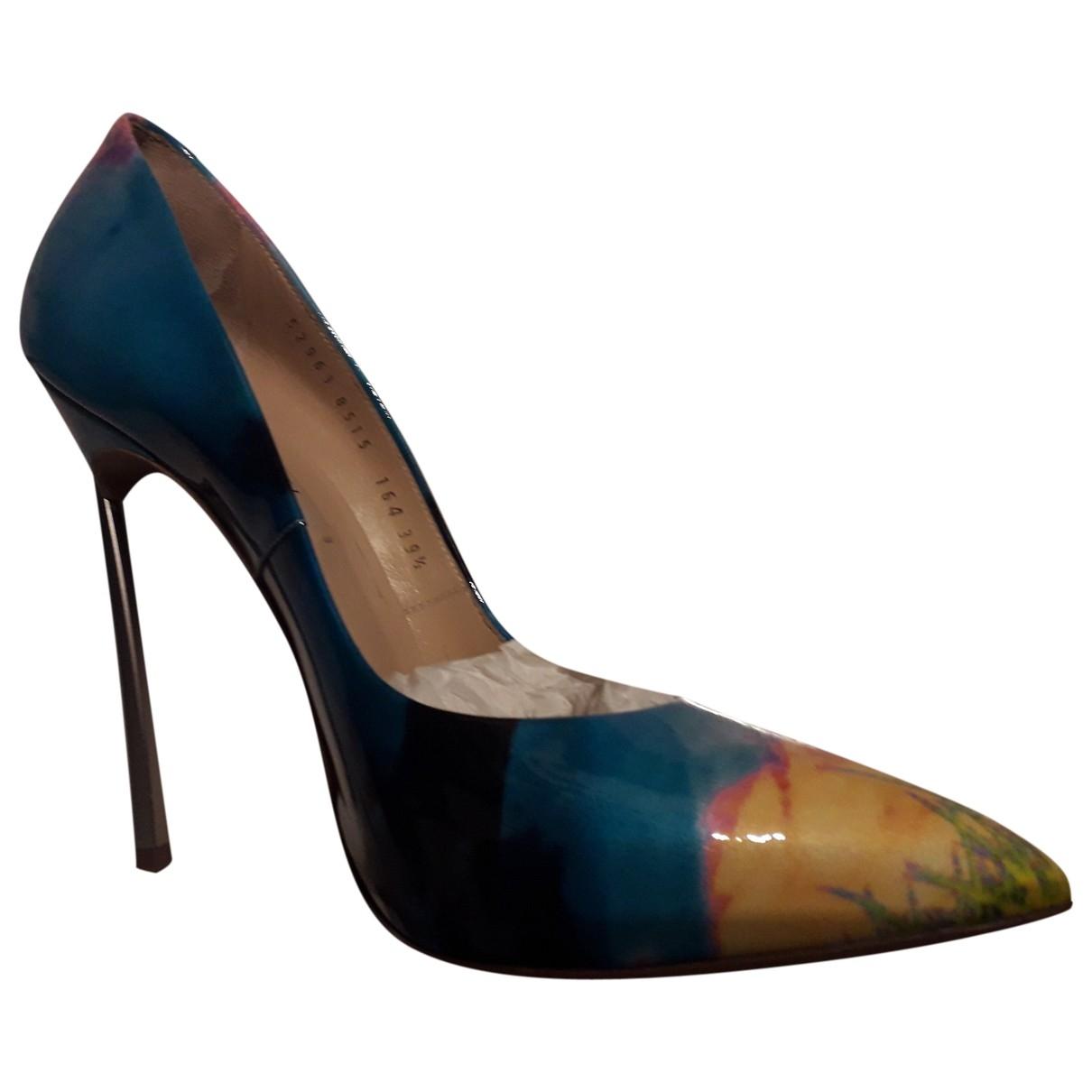 Casadei - Escarpins   pour femme en cuir - multicolore