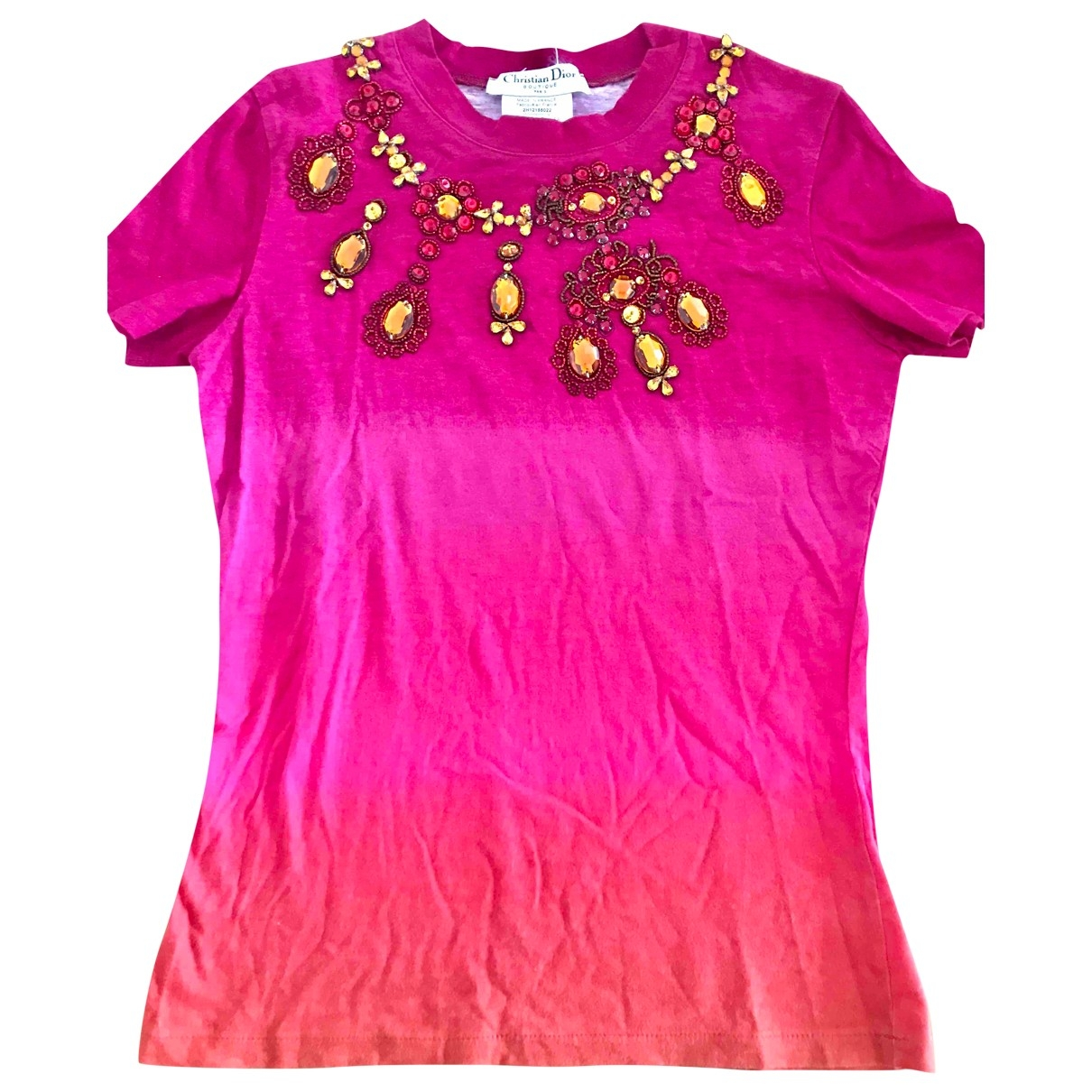 Dior \N Pink Cotton  top for Women 42 FR