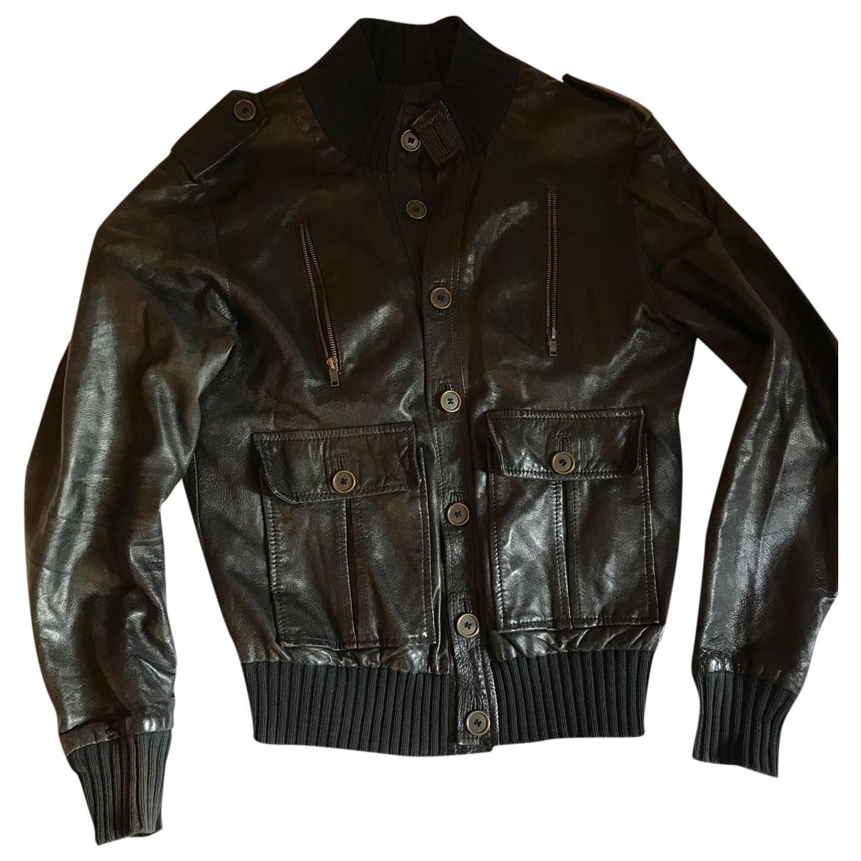 Imperial - Vestes.Blousons   pour homme en cuir - noir