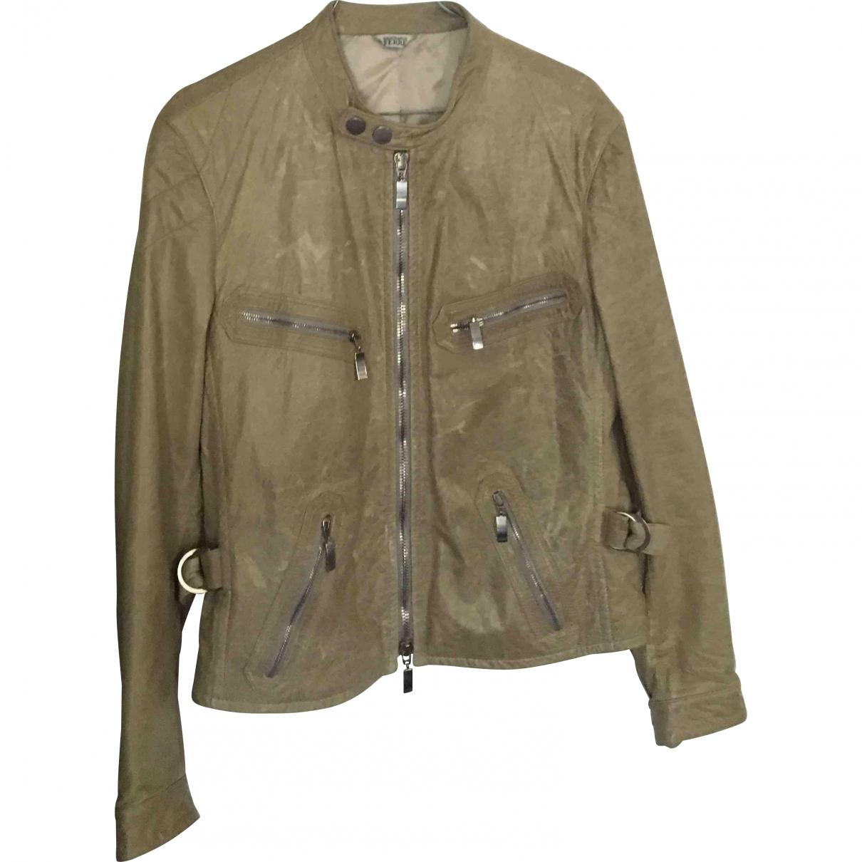 Gianfranco Ferré \N Beige Leather jacket  for Men 48 IT