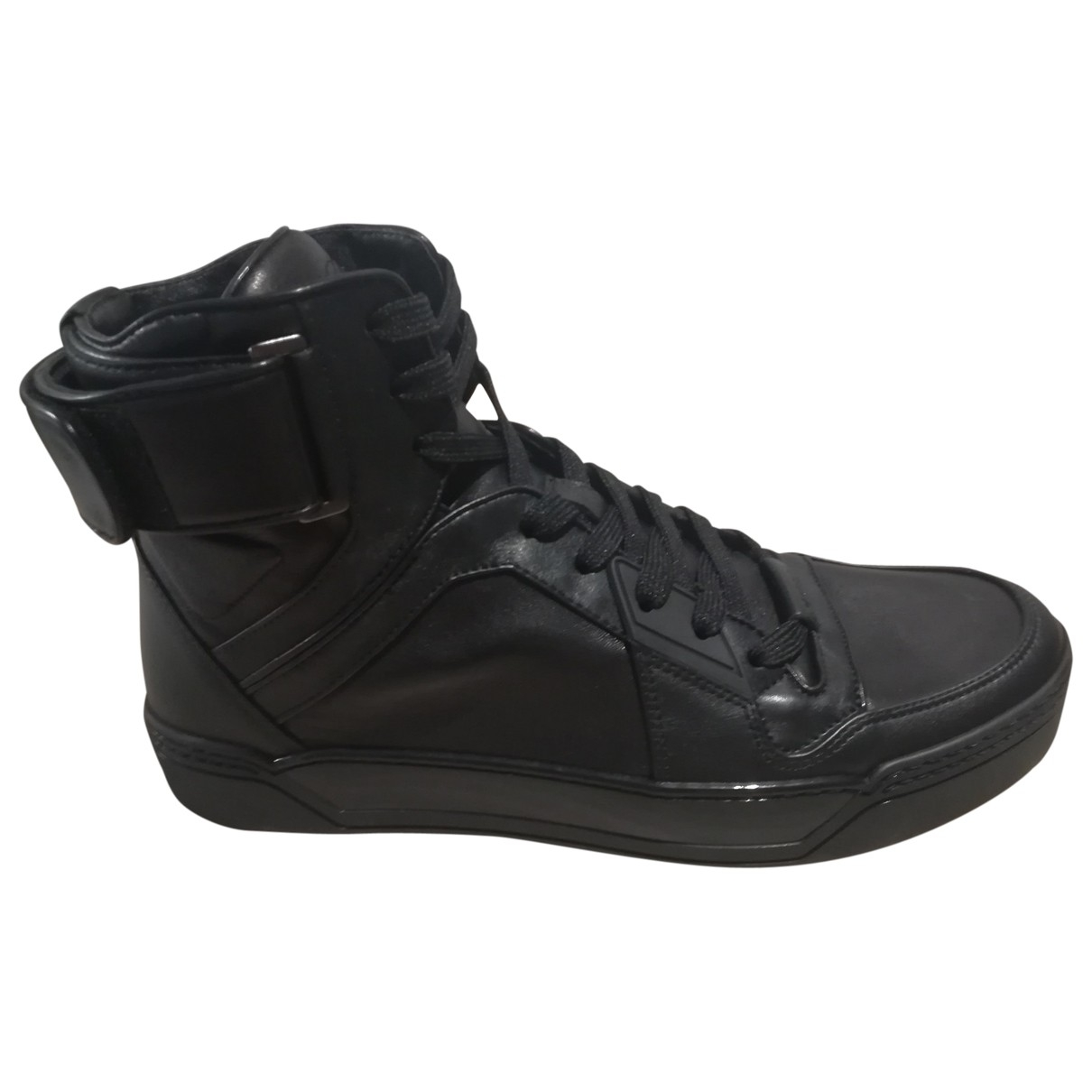Gucci \N Black Leather Trainers for Men 9 UK