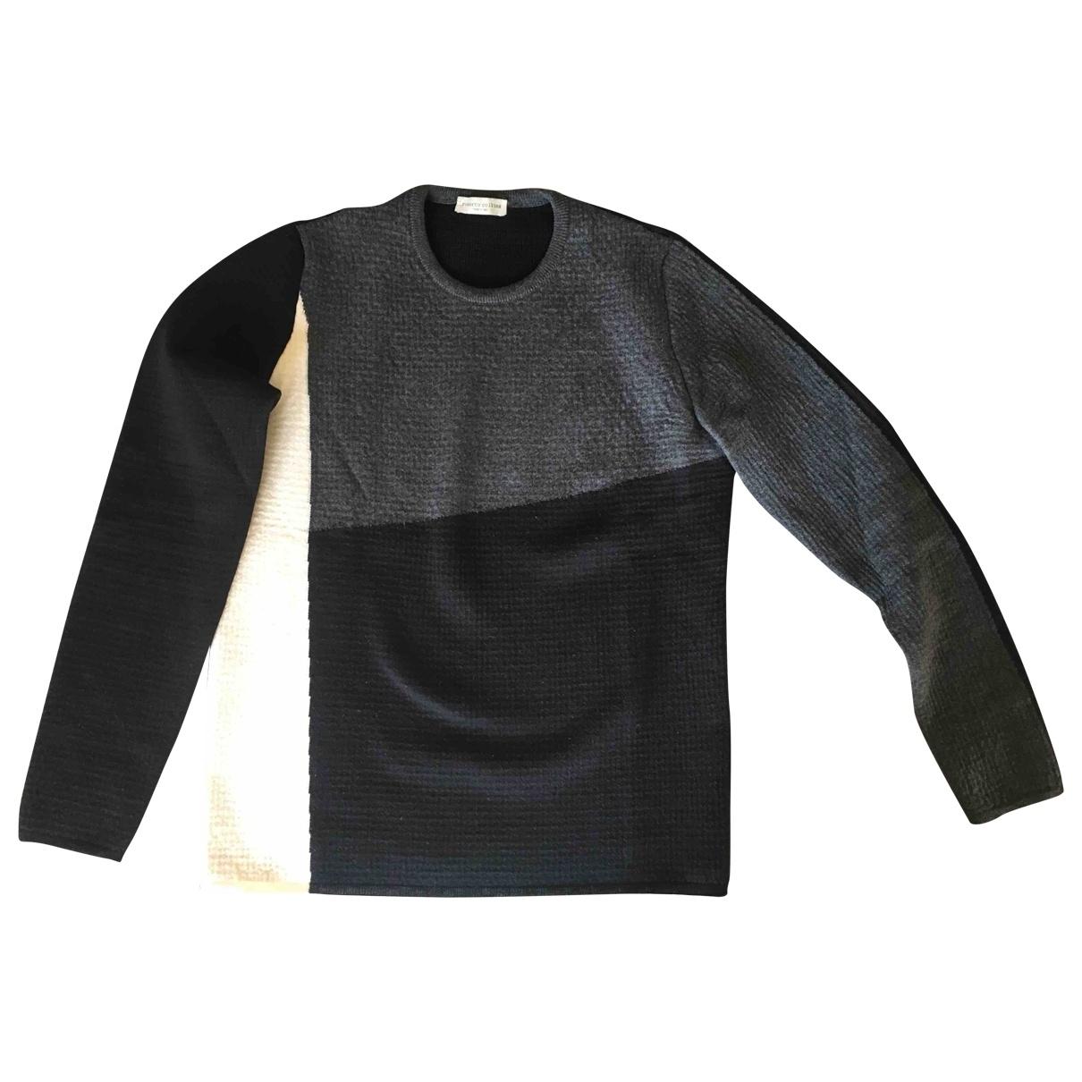 Roberto Collina \N Pullover.Westen.Sweatshirts  in  Schwarz Wolle