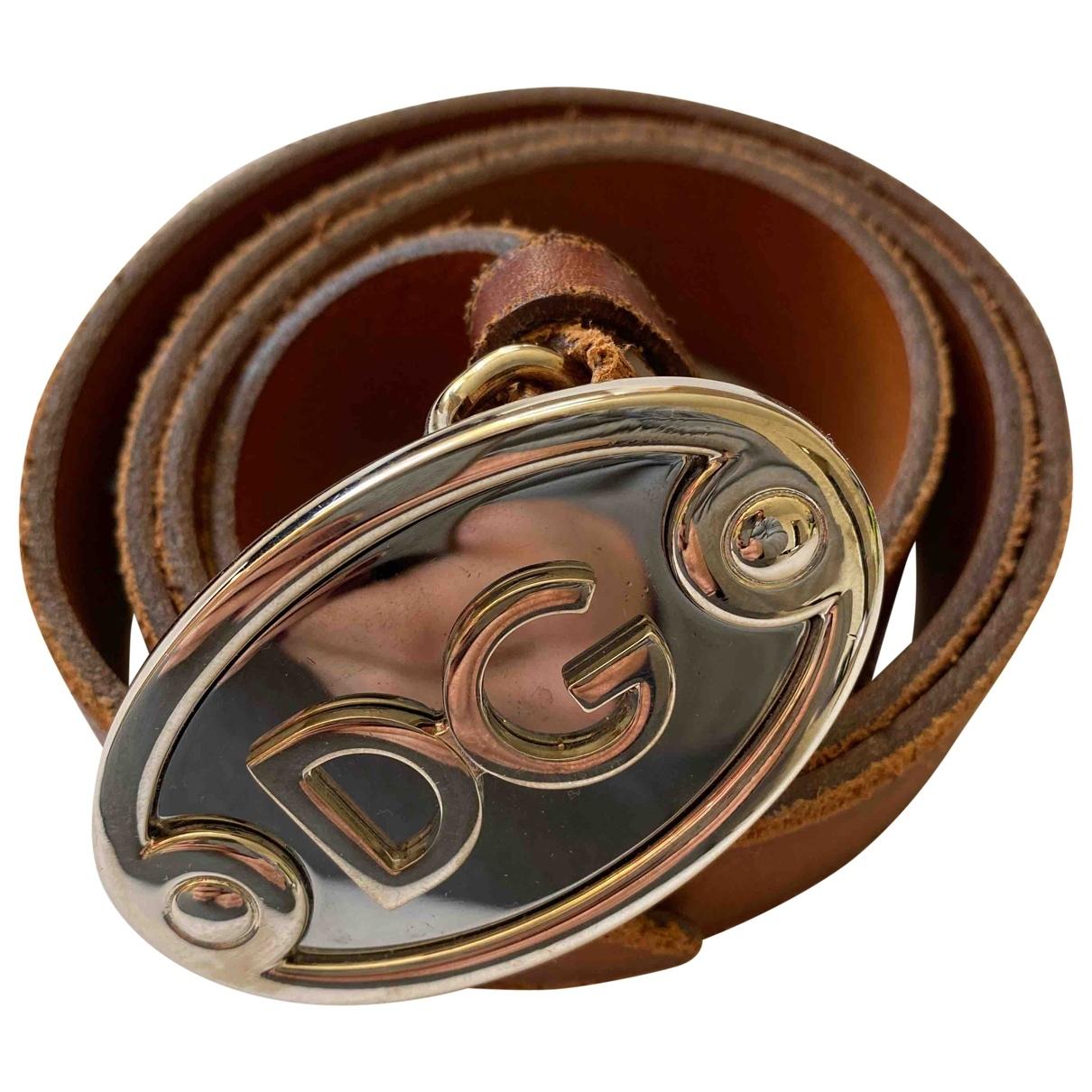 D&g \N Brown Leather belt for Men 90 cm