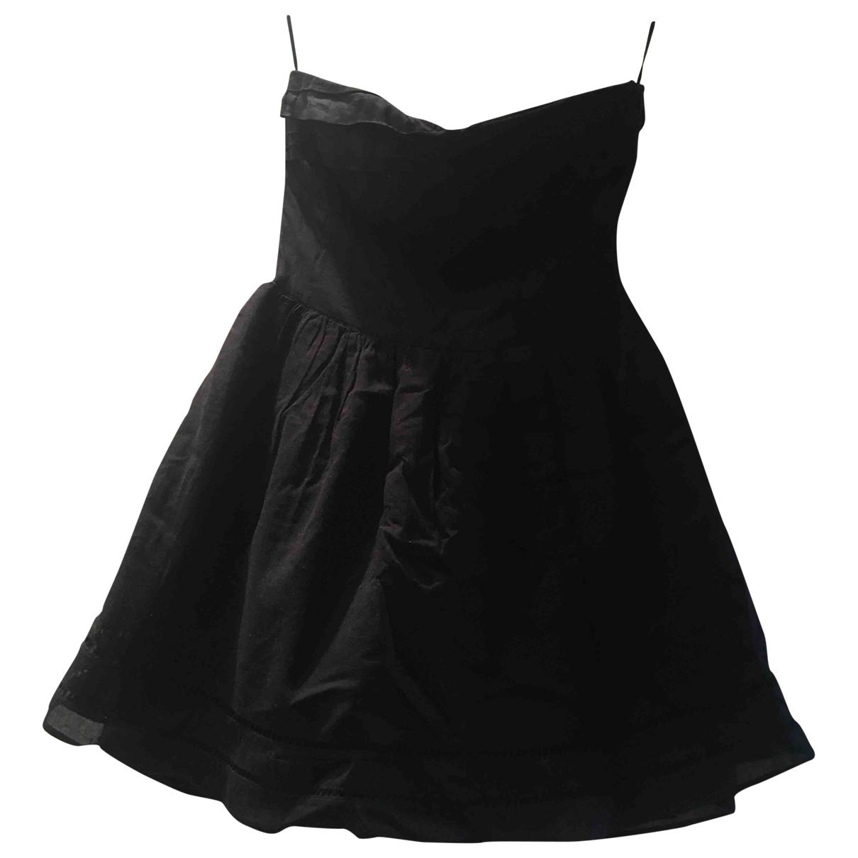 Maje \N Kleid in  Schwarz Baumwolle